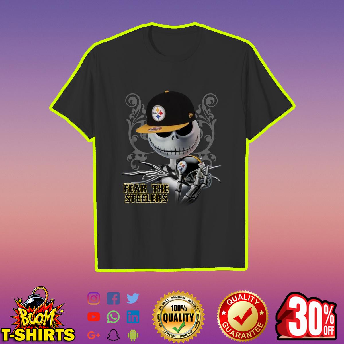 Jack Skellington Fear The Steelers shirt - black