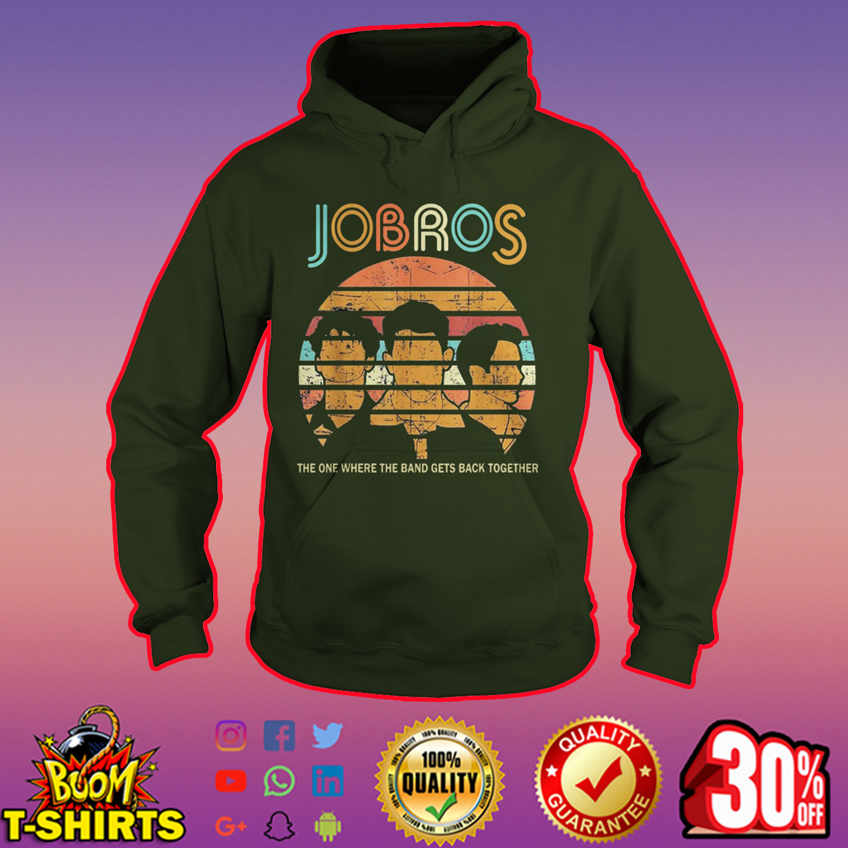 Jobros the one where the band gets back together hoodie