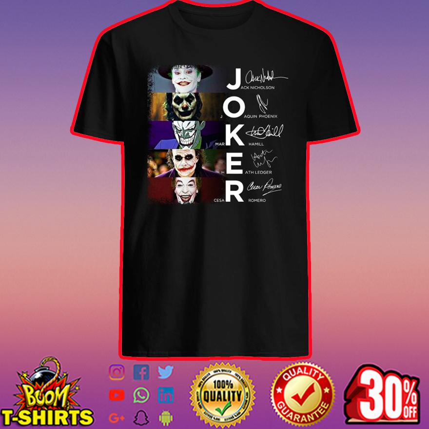 Joker signatures shirt