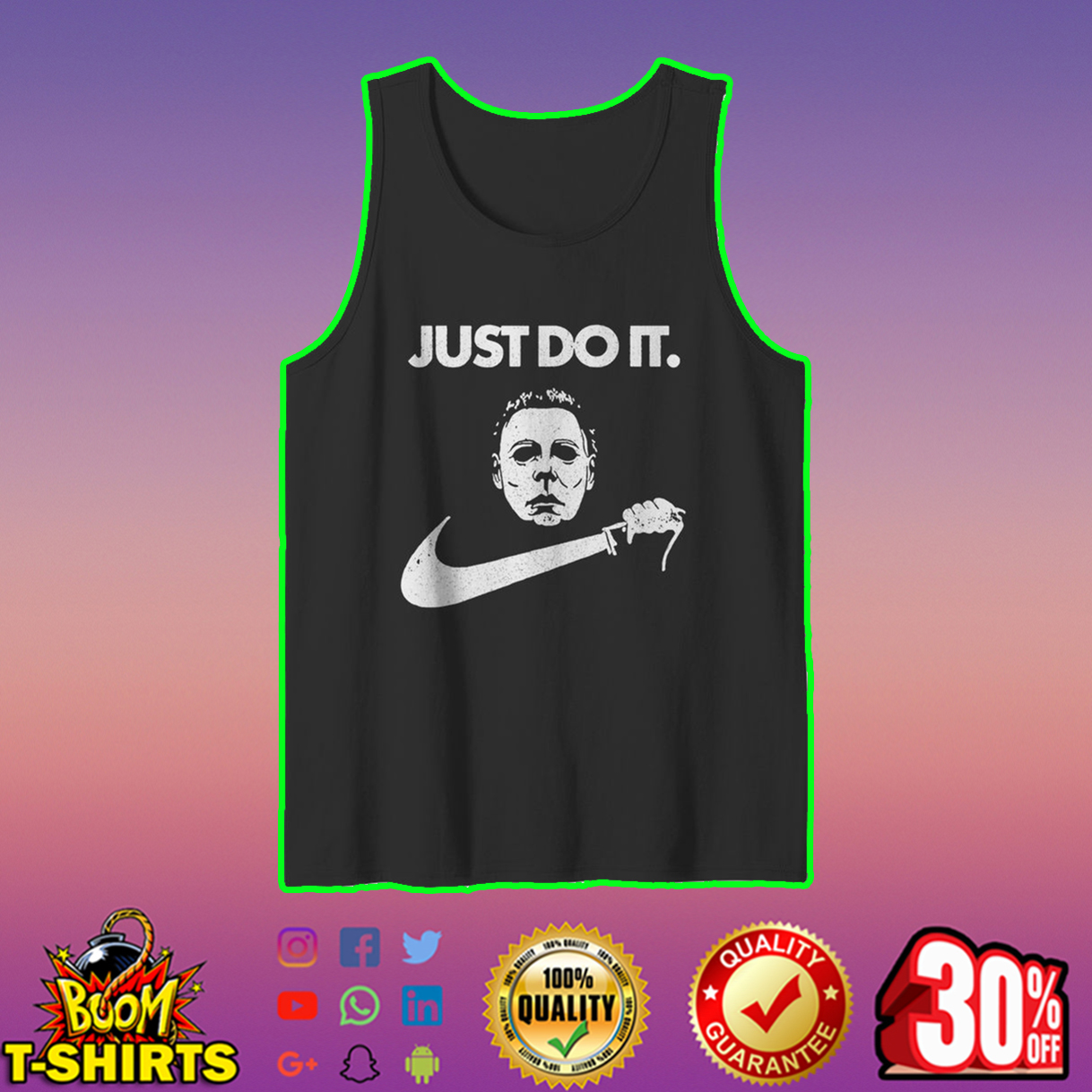 Just do it Michael Myers tank top