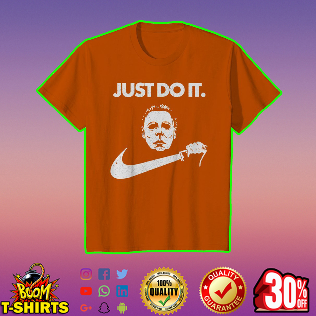 Just do it Michael Myers youth tee