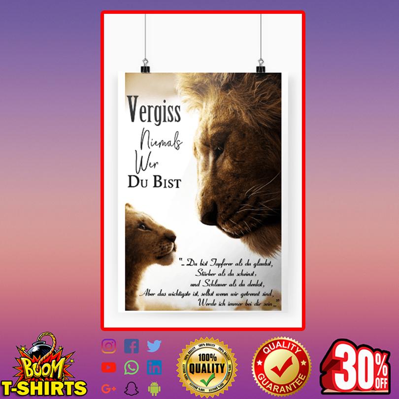 König der Löwen vergiss niemals wer du bist poster A3 (297 x 420mm)