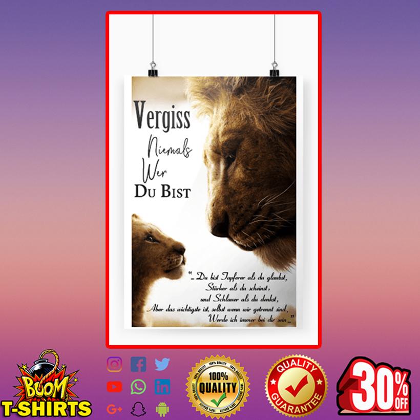 König der Löwen vergiss niemals wer du bist poster A4 (210 x 297mm)