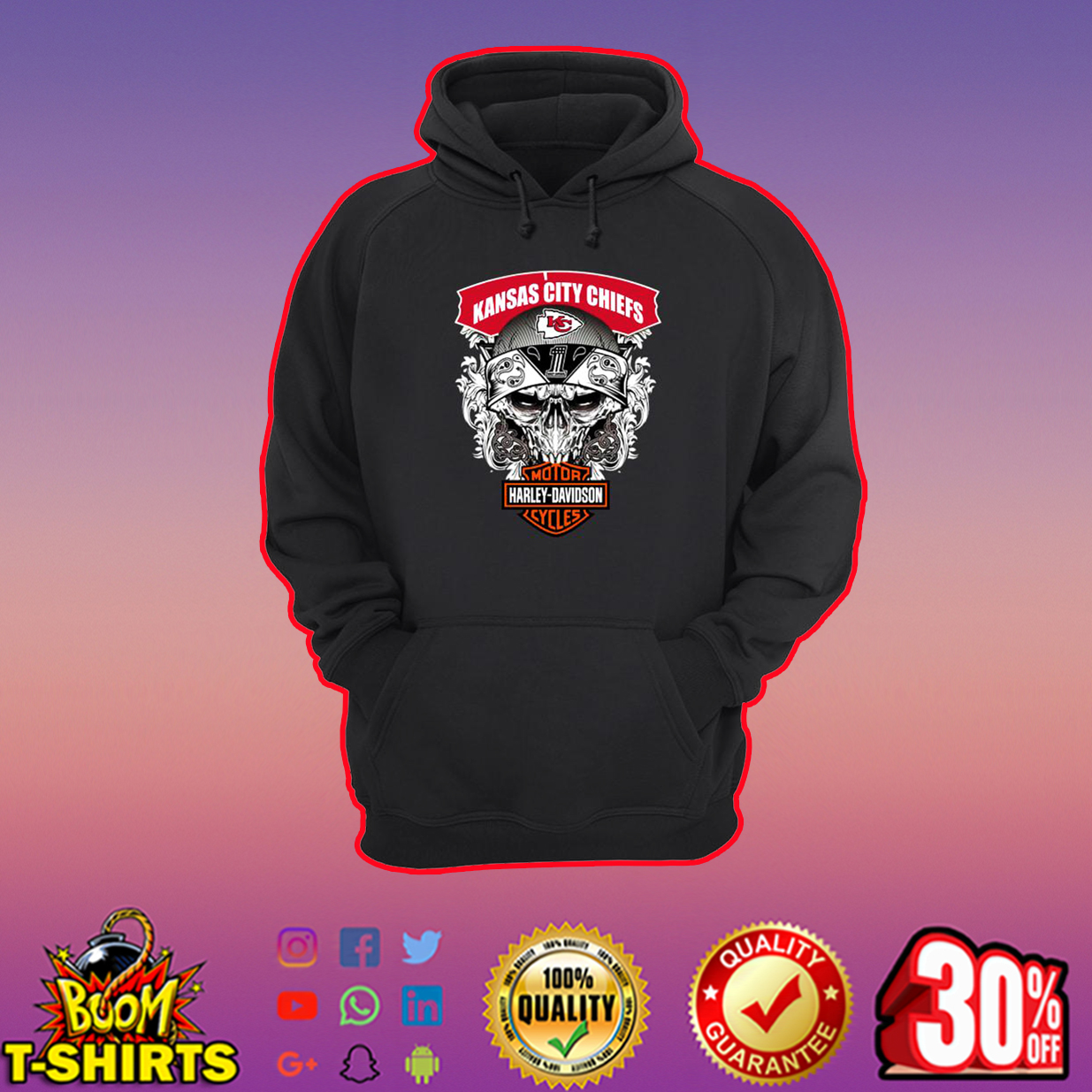 Kansas City Chiefs Motor Harley Davidson hoodie