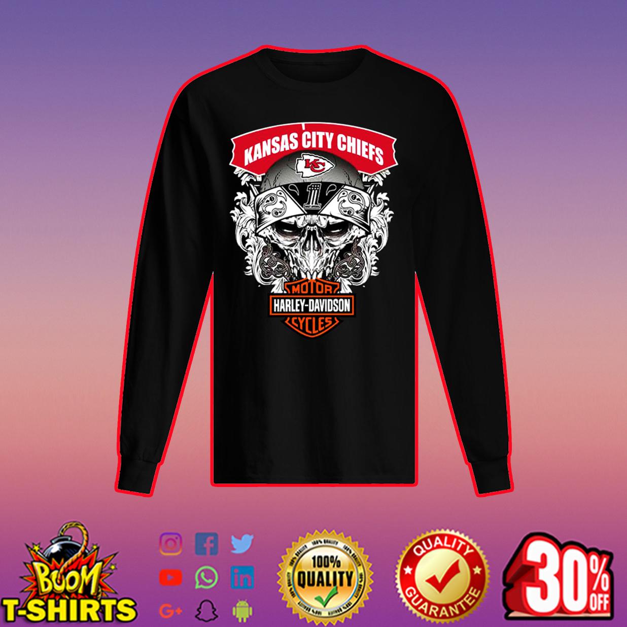 Kansas City Chiefs Motor Harley Davidson long sleeved t-shirt