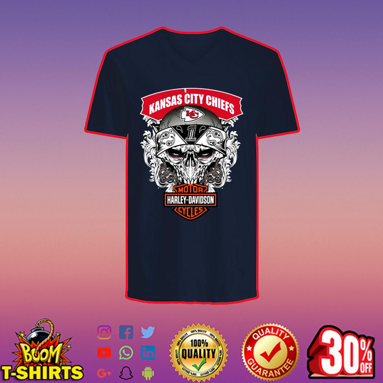 Kansas City Chiefs Motor Harley Davidson v-neck