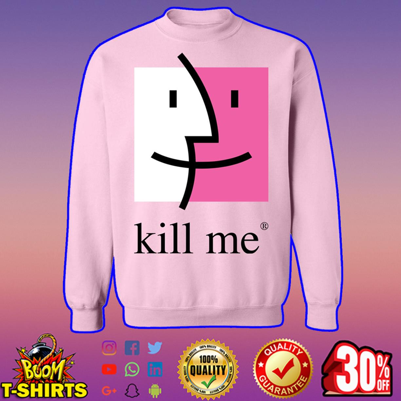 Kill me finder crewneck sweatshirt - light pink