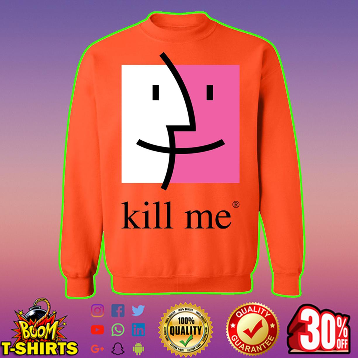 Kill me finder crewneck sweatshirt - orange