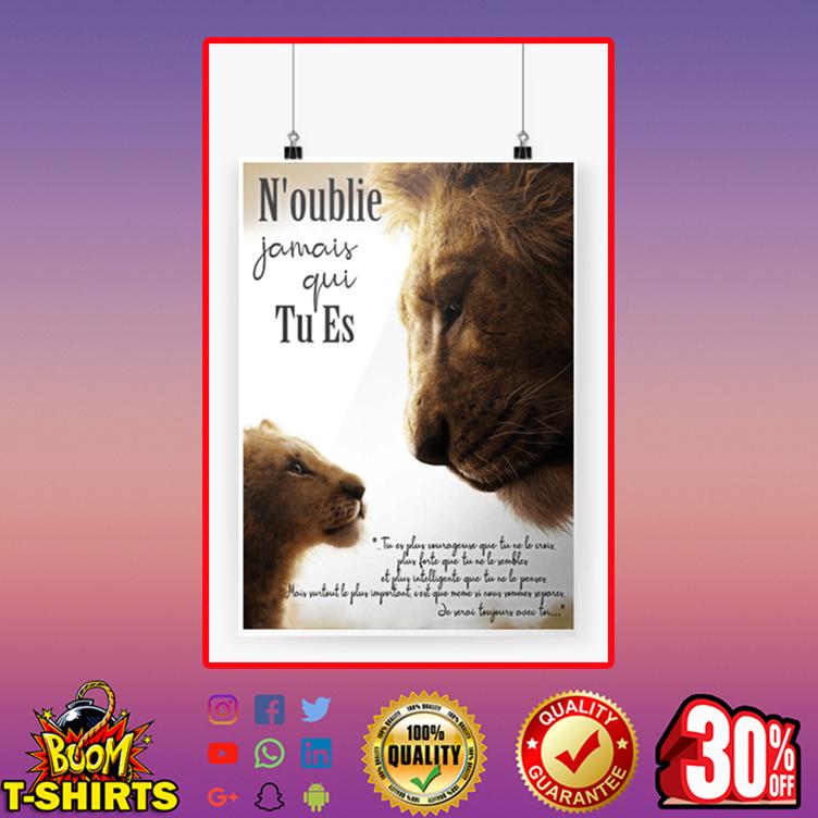 Le Roi Lion N'oublie jamais qui tu es affiche poster A4 (210 x 297mm)