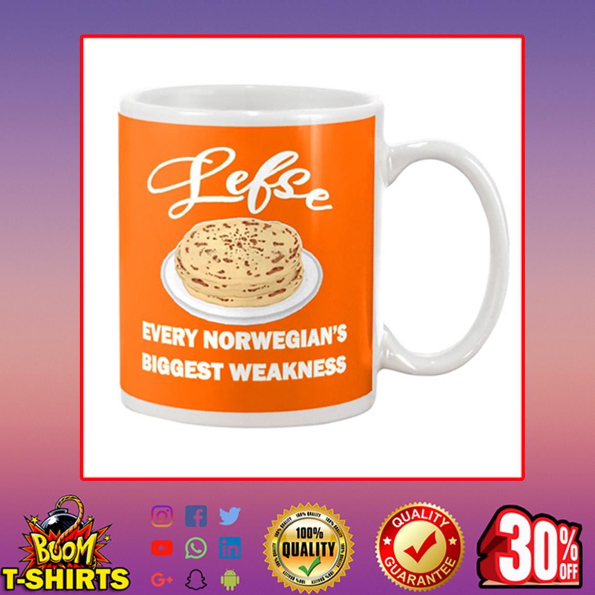 Lefse every norwegian's biggest weakness mug - orange