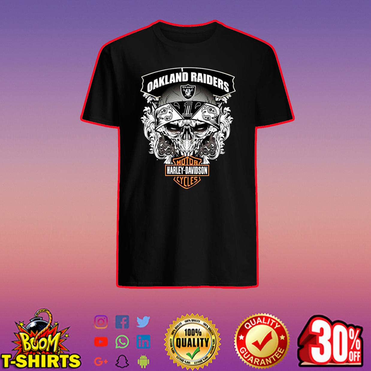 Oakland Raiders Harley-Davidson Skull shirt