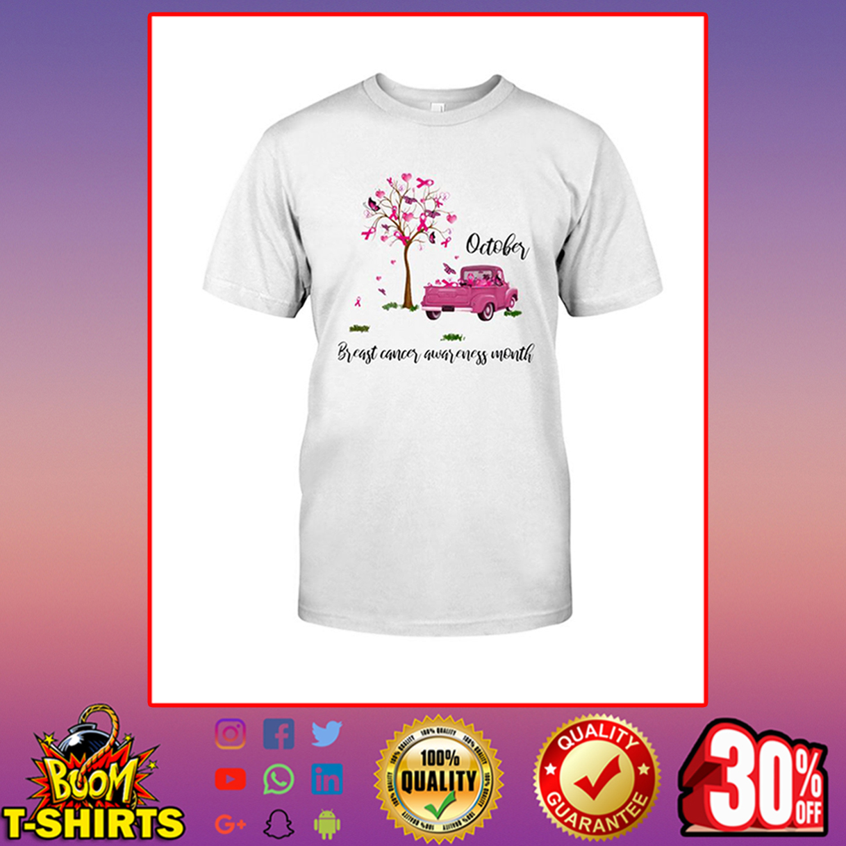 October breast cancer awareness month shirt