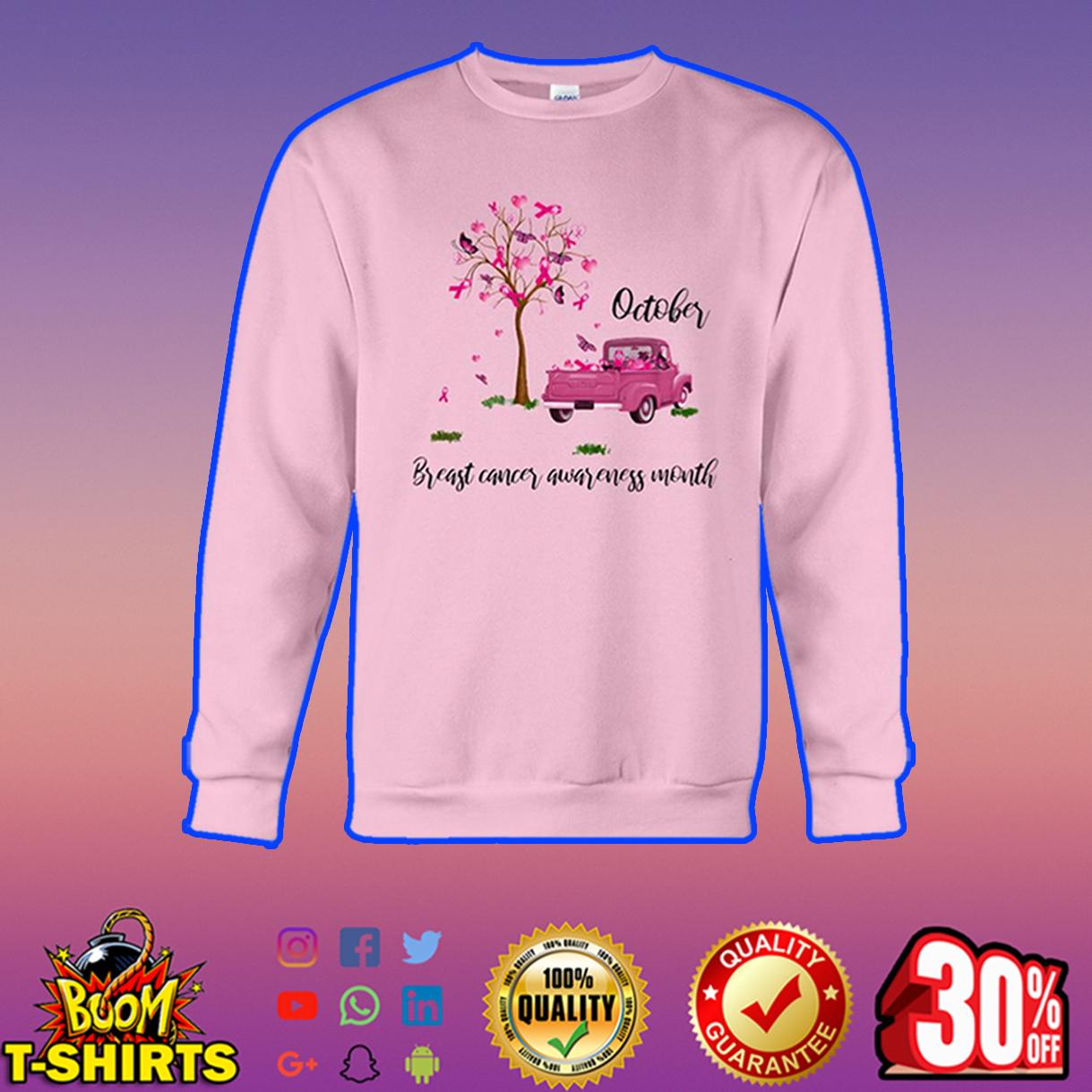 October breast cancer awareness month sweatshirt