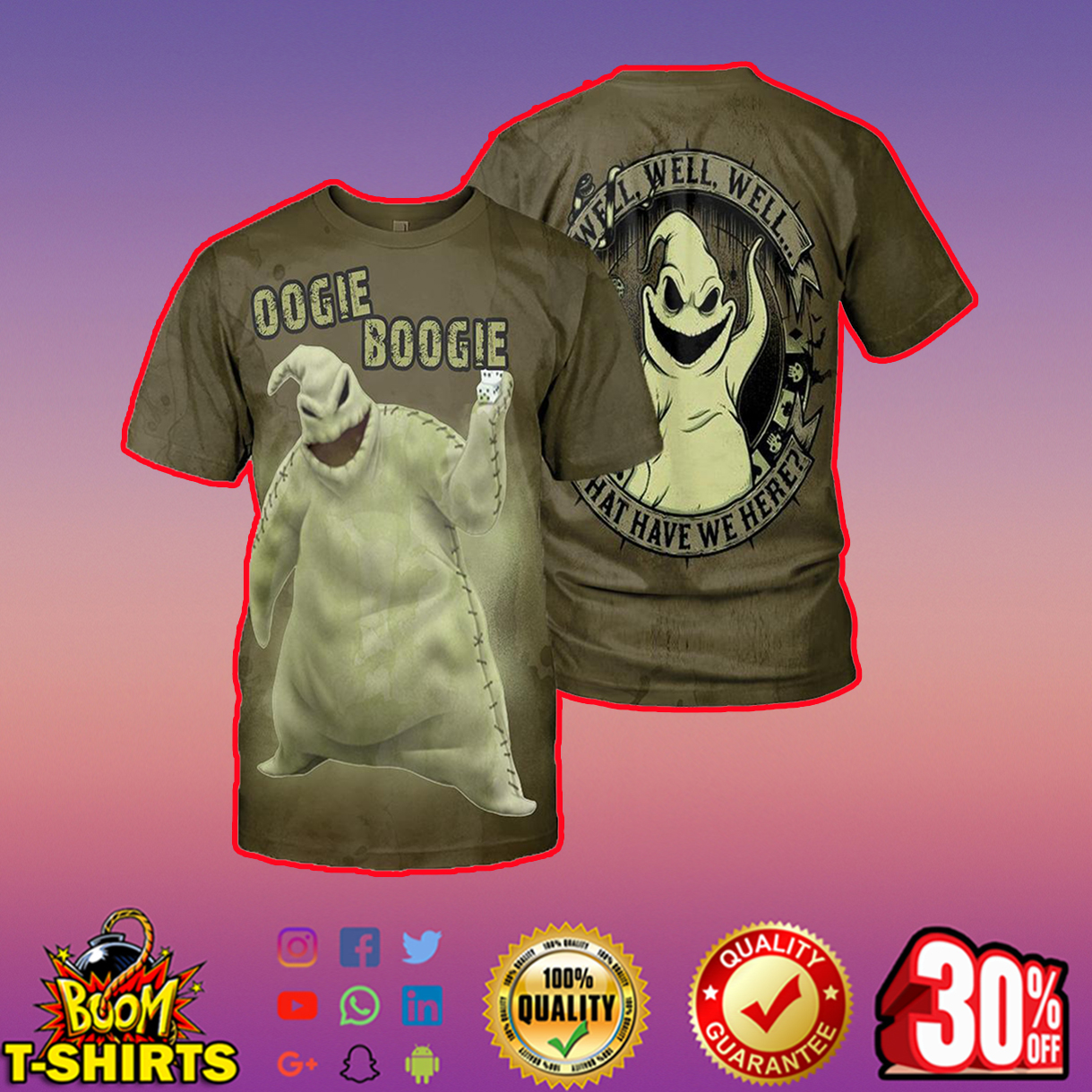 Oogie Boogie 3d shirt, 3d hoodie - t-shirt 3d