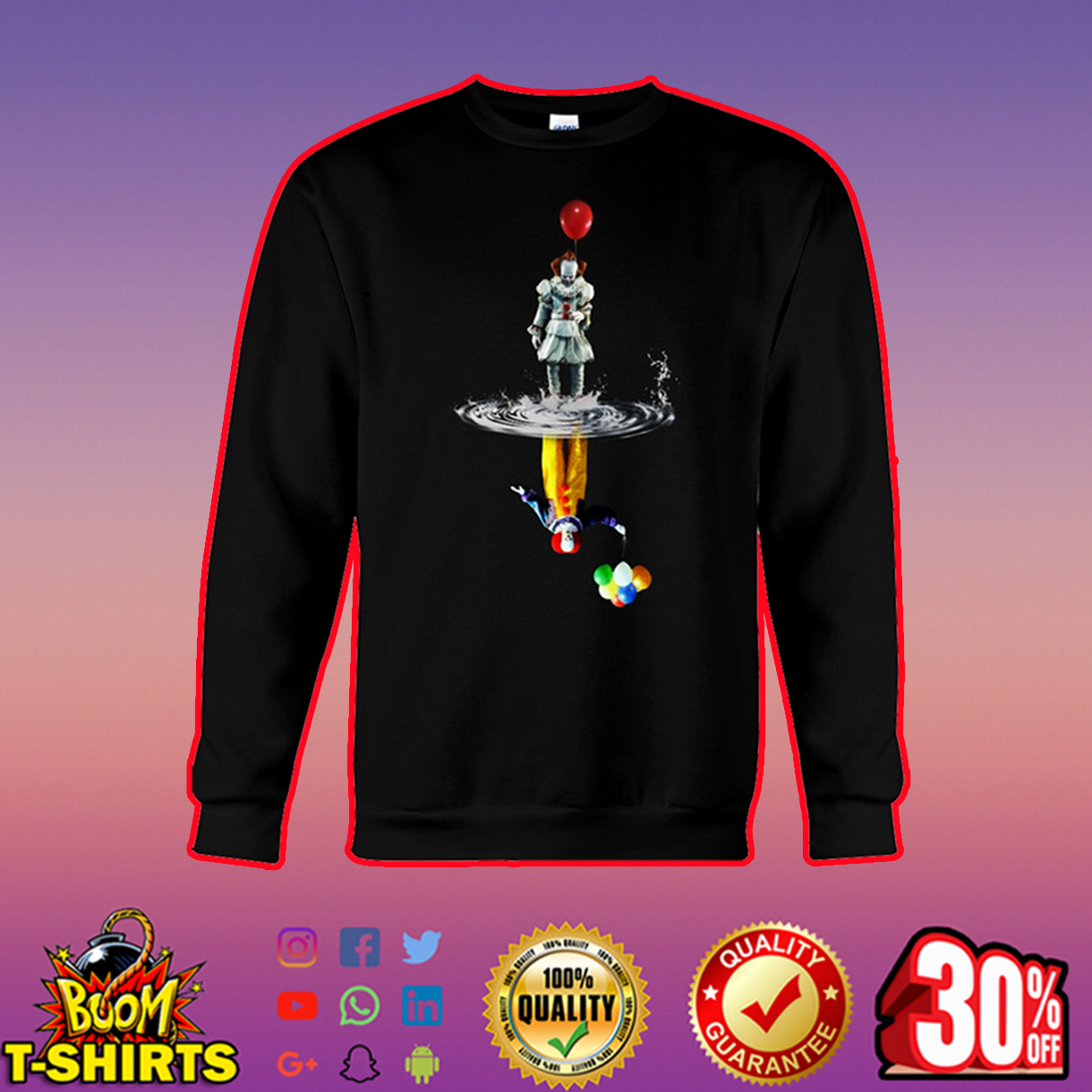 Pennywise IT Reflection sweatshirt