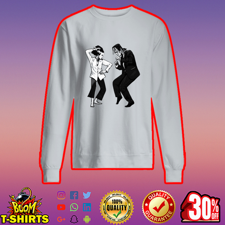 Pulp fiction dance Frankenstein sweatshirt
