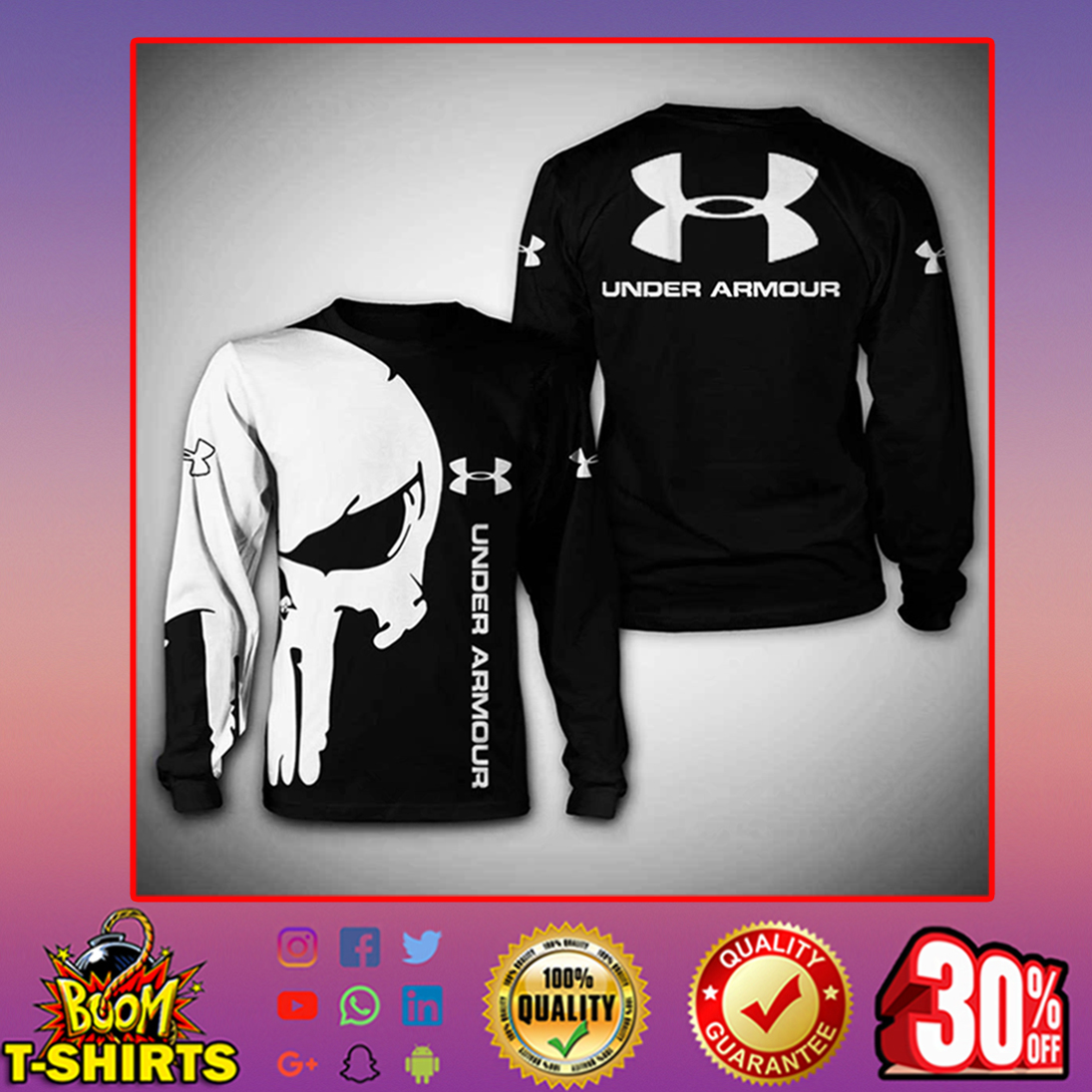 Punisher Skull Under Armour sweatshirt 3d
