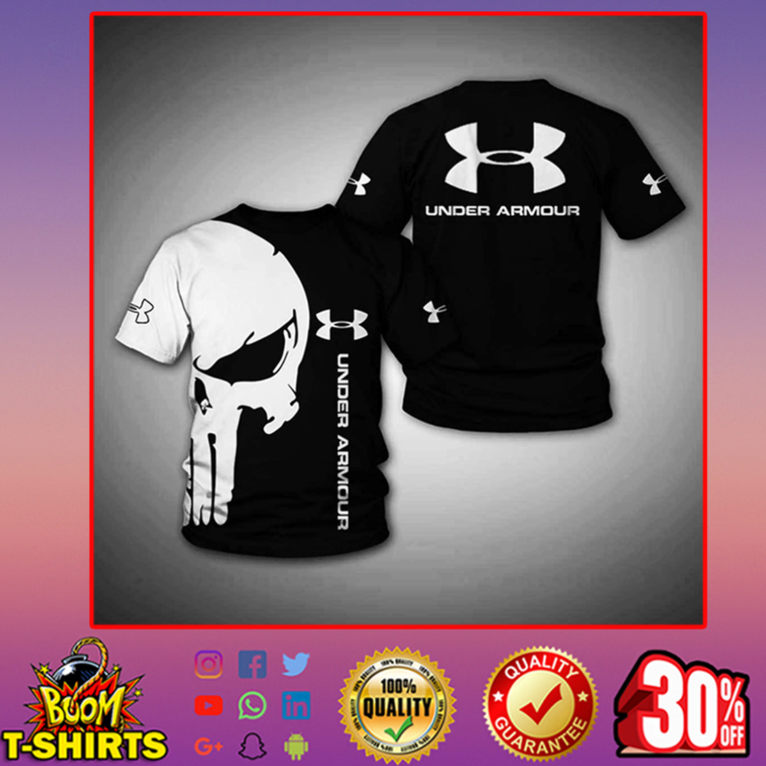 Punisher Skull Under Armour t-shirt 3d