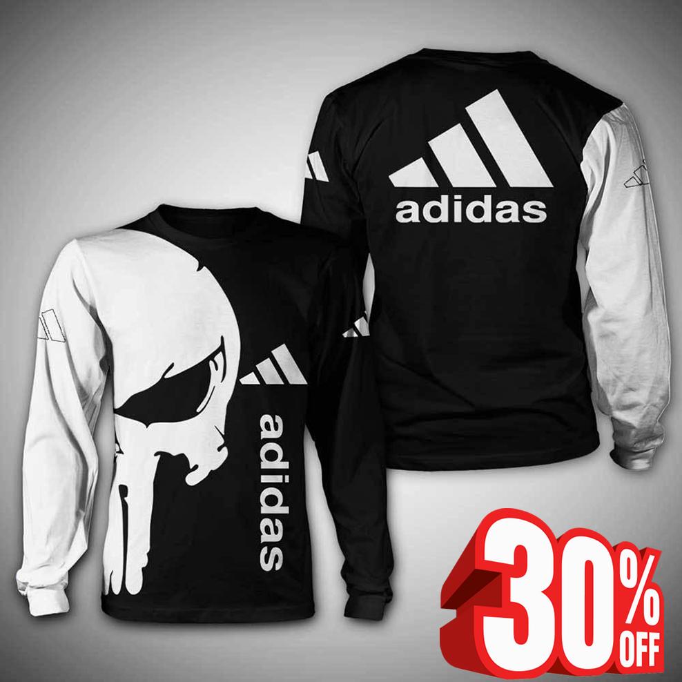 Punisher skull adidas sweatshirt 3d