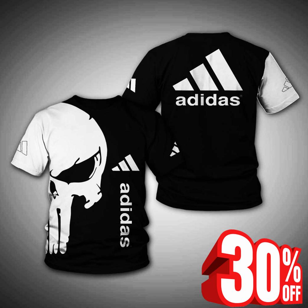 Punisher skull adidas t-shirt 3d