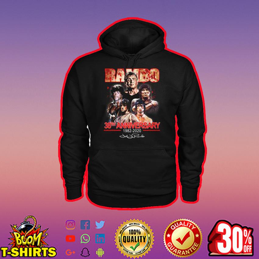 Rambo 38th anniversary 1982 2020 signature hoodie