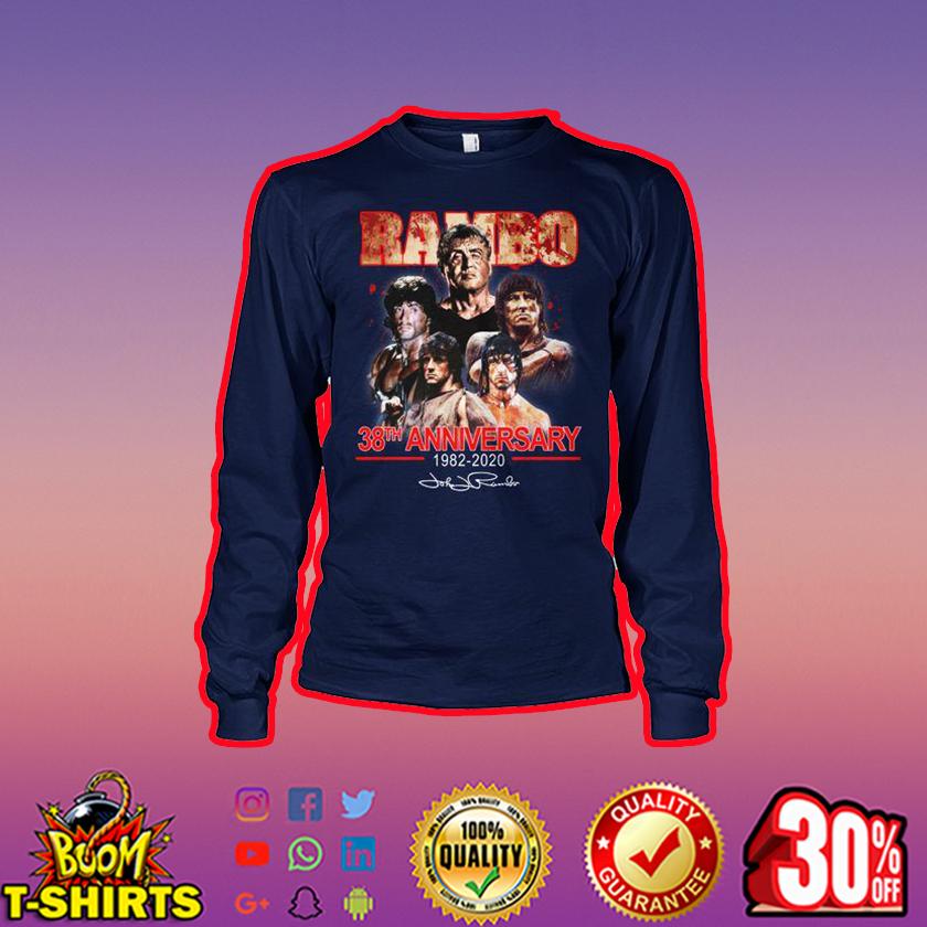 Rambo 38th anniversary 1982 2020 signature long sleeve tee