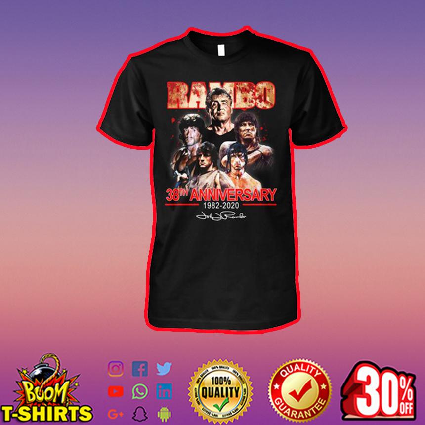 Rambo 38th anniversary 1982 2020 signature shirt
