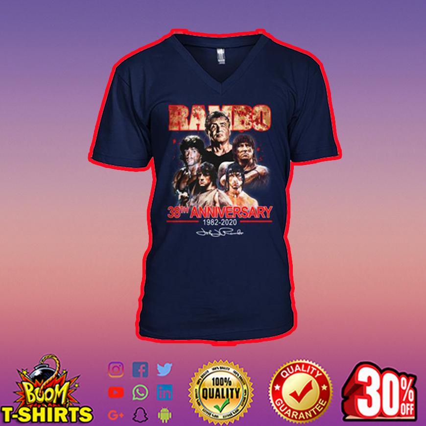 Rambo 38th anniversary 1982 2020 signature v-neck