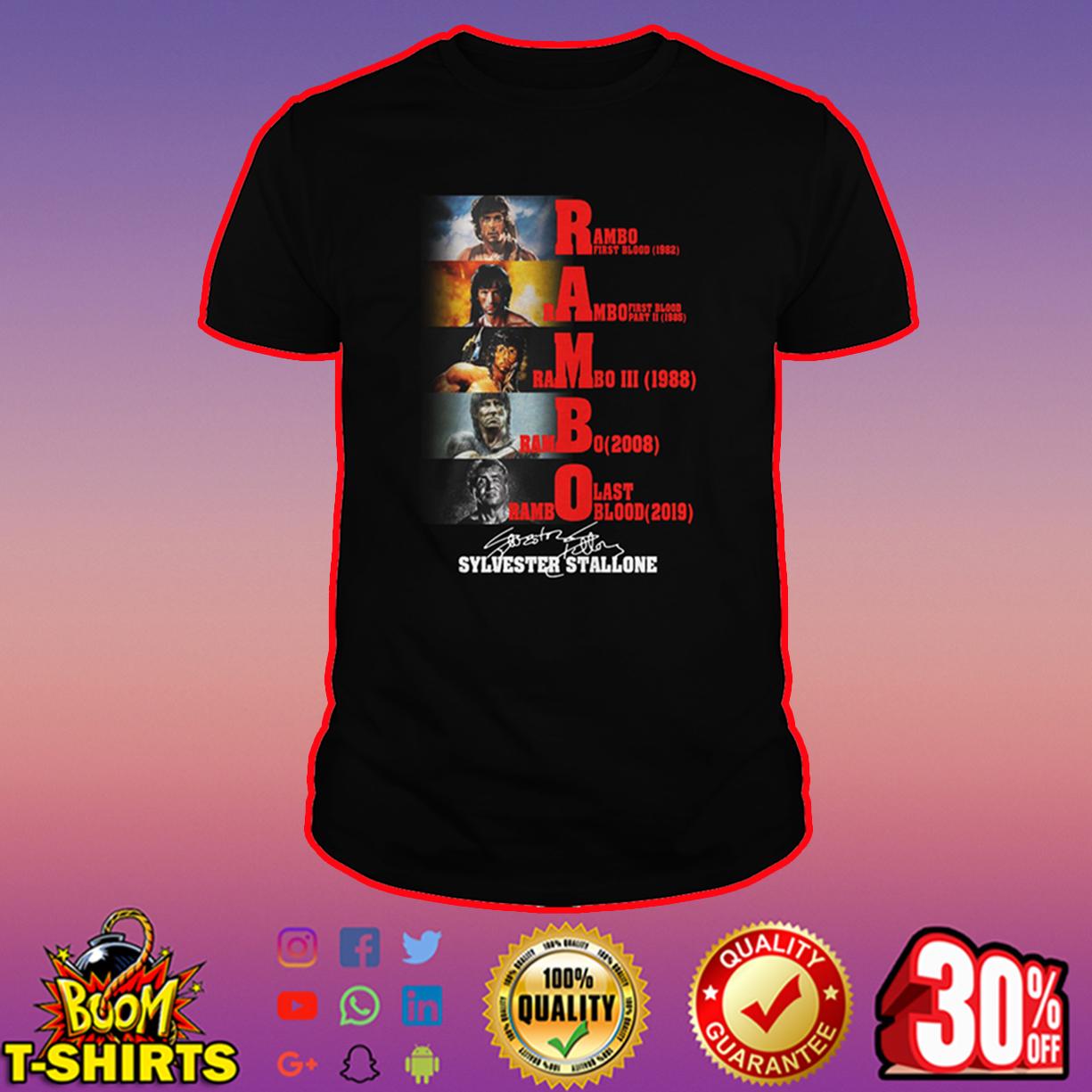 Rambo Sylvester Stallone Signature shirt