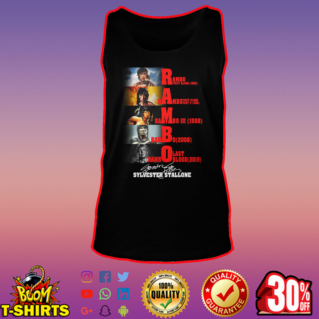 Rambo Sylvester Stallone Signature tank top