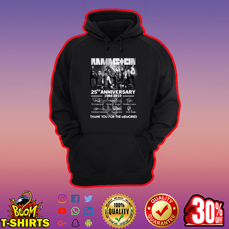 Rammstein 25th anniversary thank you for the memories hoodie