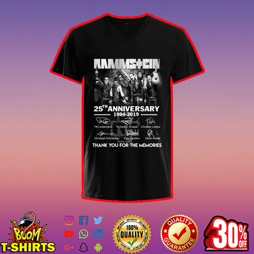 Rammstein 25th anniversary thank you for the memories v-neck