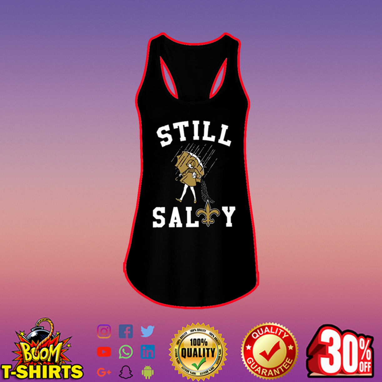 Saints Still Salty flowy tank