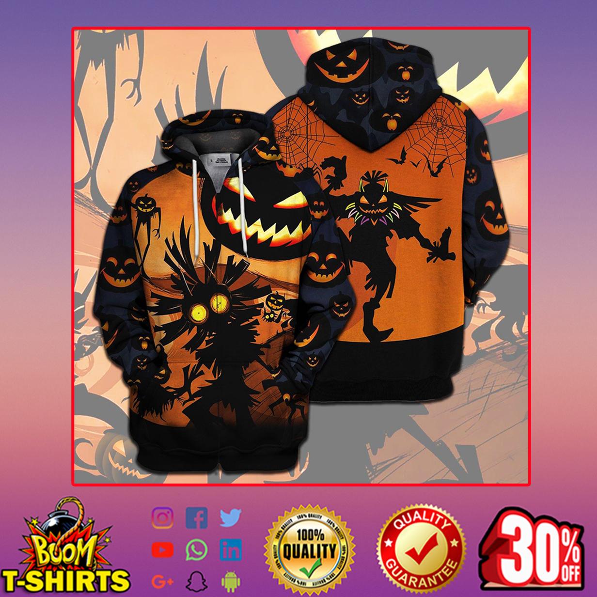 Skull Kid Halloween Full Print 3d hoodie zip