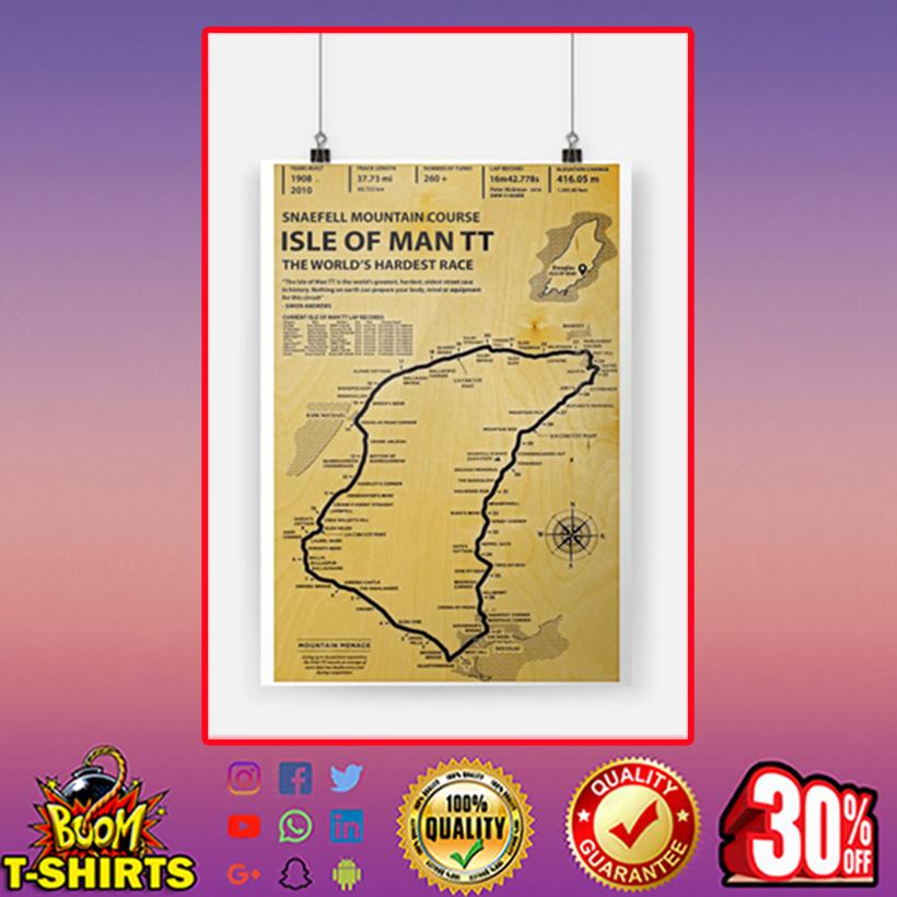 Snaefell Mountain Course Isle Ò Man TT The World's Hardest Race Poster