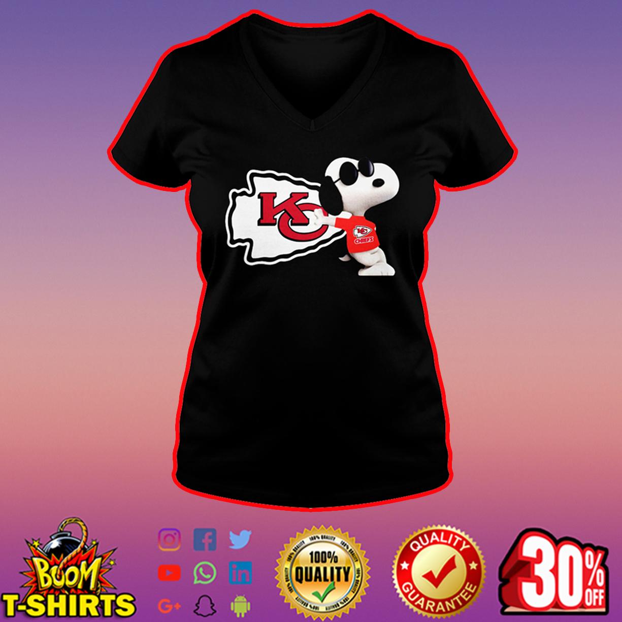 Snoopy Kansas City Chiefs v-neck