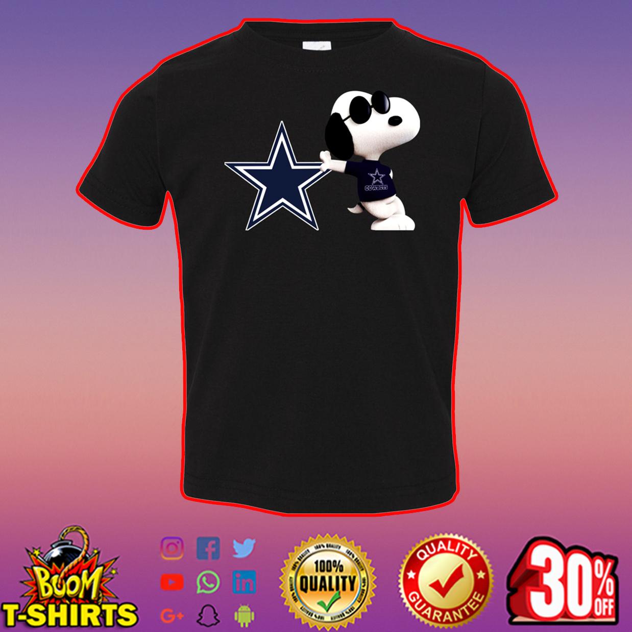 Snoopy dallas cowboys t-shirt - black