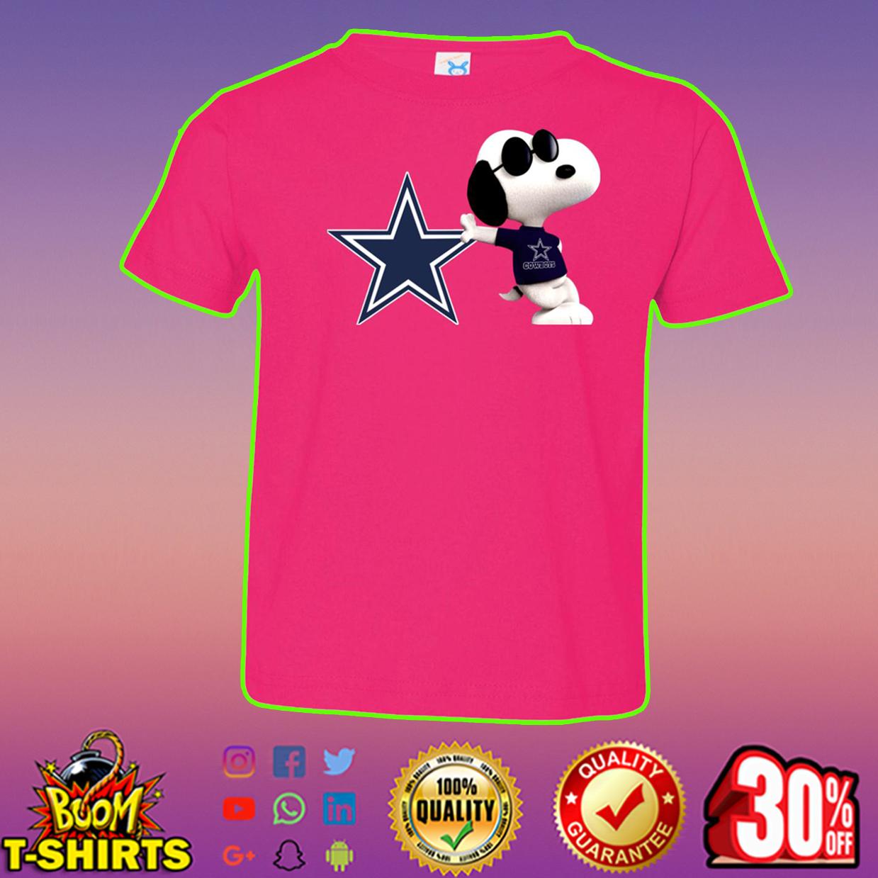 Snoopy dallas cowboys t-shirt - hot pink
