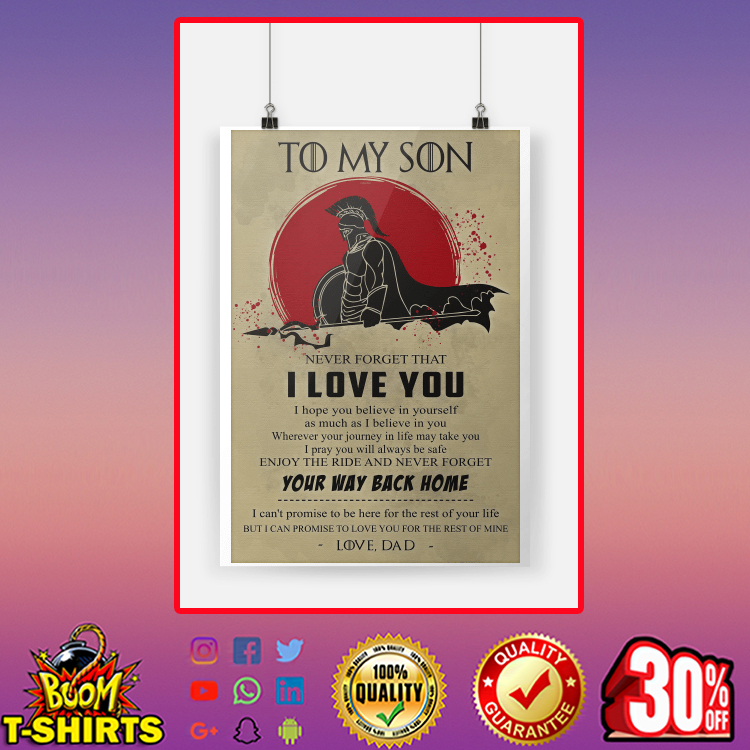 Spartan Warrior Đa To My Son Poster A2 (420 x 594mm)