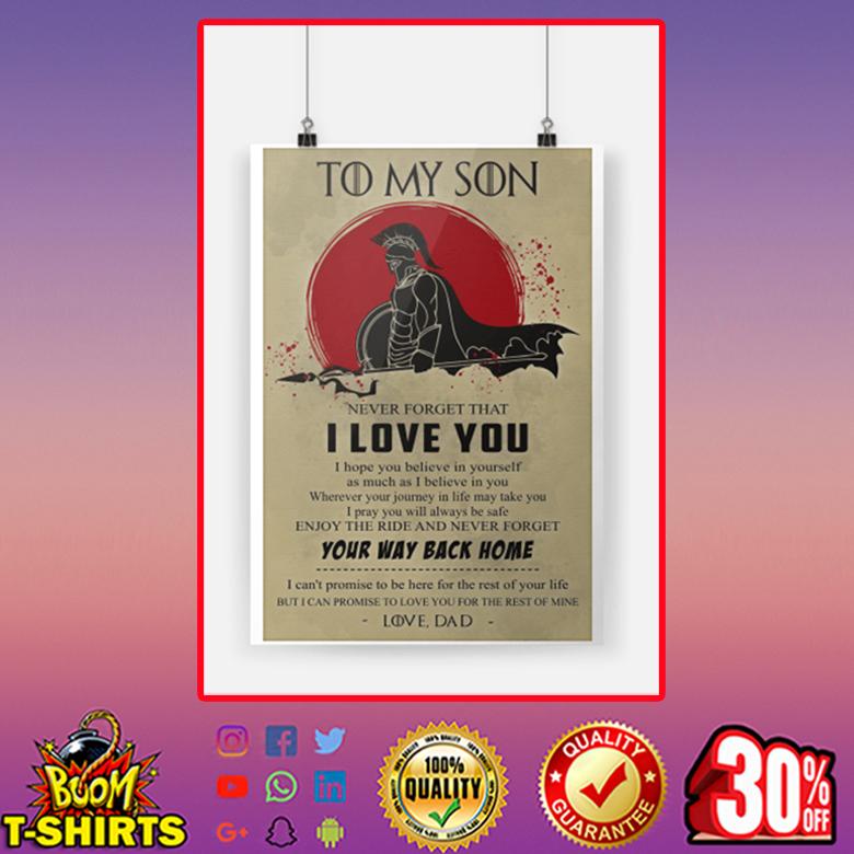 Spartan Warrior Đa To My Son Poster
