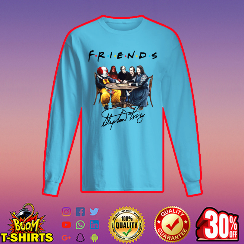 Stephen King Horror Characters Friends Signature long sleeved t-shirt