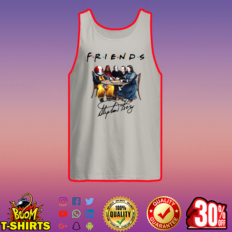 Stephen King Horror Characters Friends Signature tank top