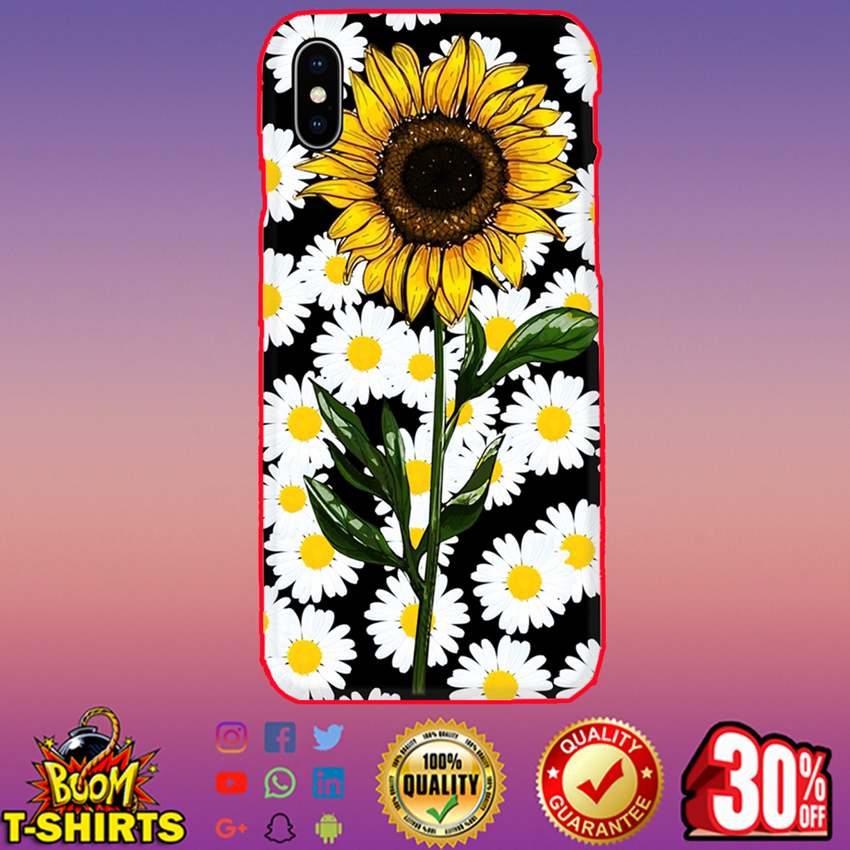 Sunflower daisy phone case - Iphone X case