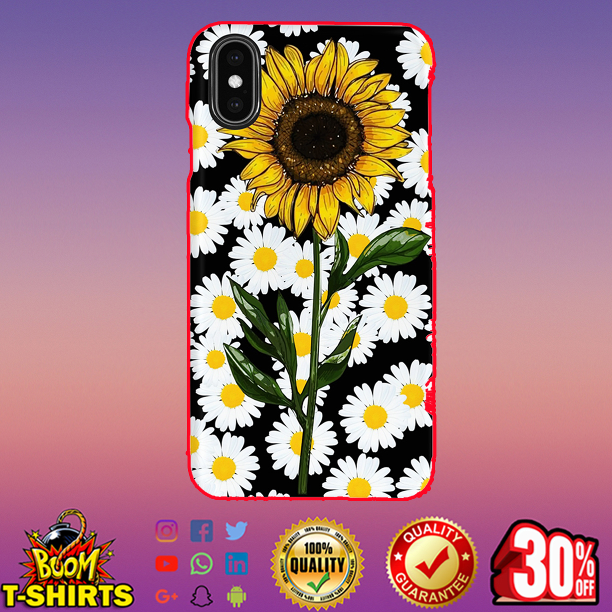 Sunflower daisy phone case - Iphone XS Max case
