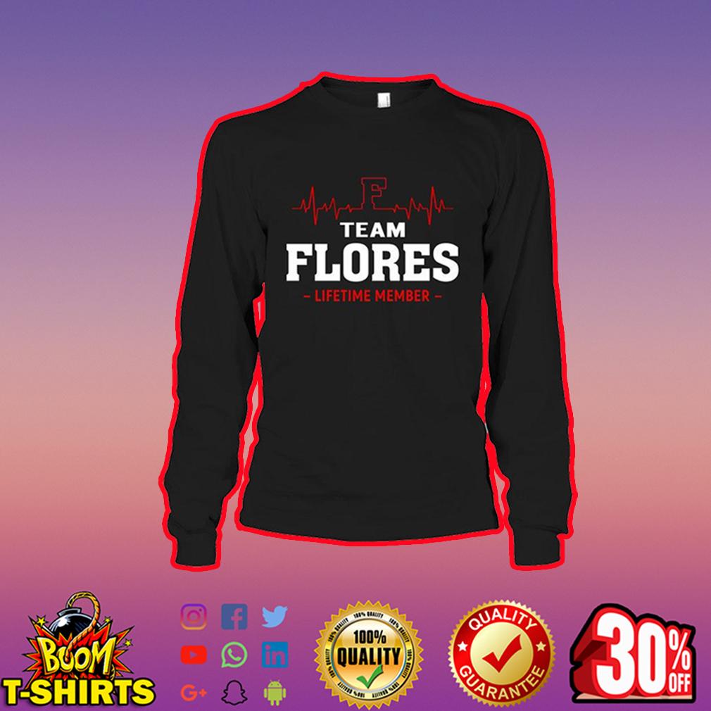 Team Flores Lifetime Member long sleeve tee