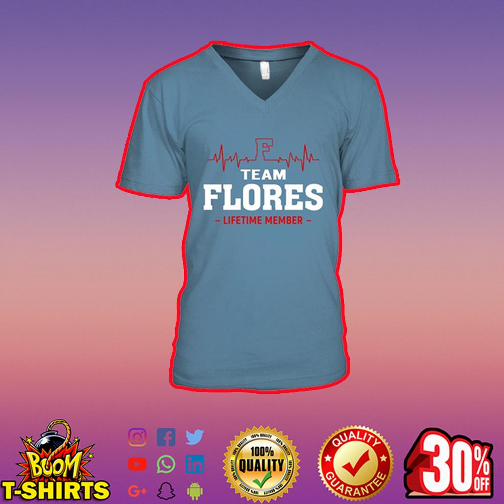 Team Flores Lifetime Member v-neck