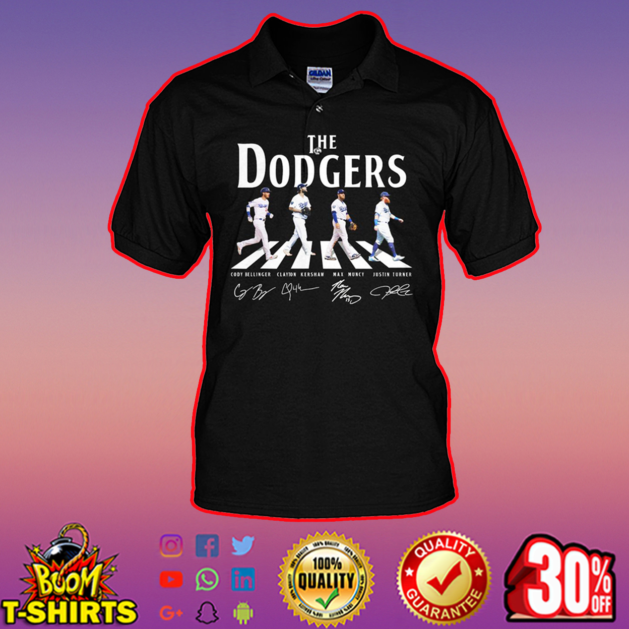 The dodgers abbey road men polo