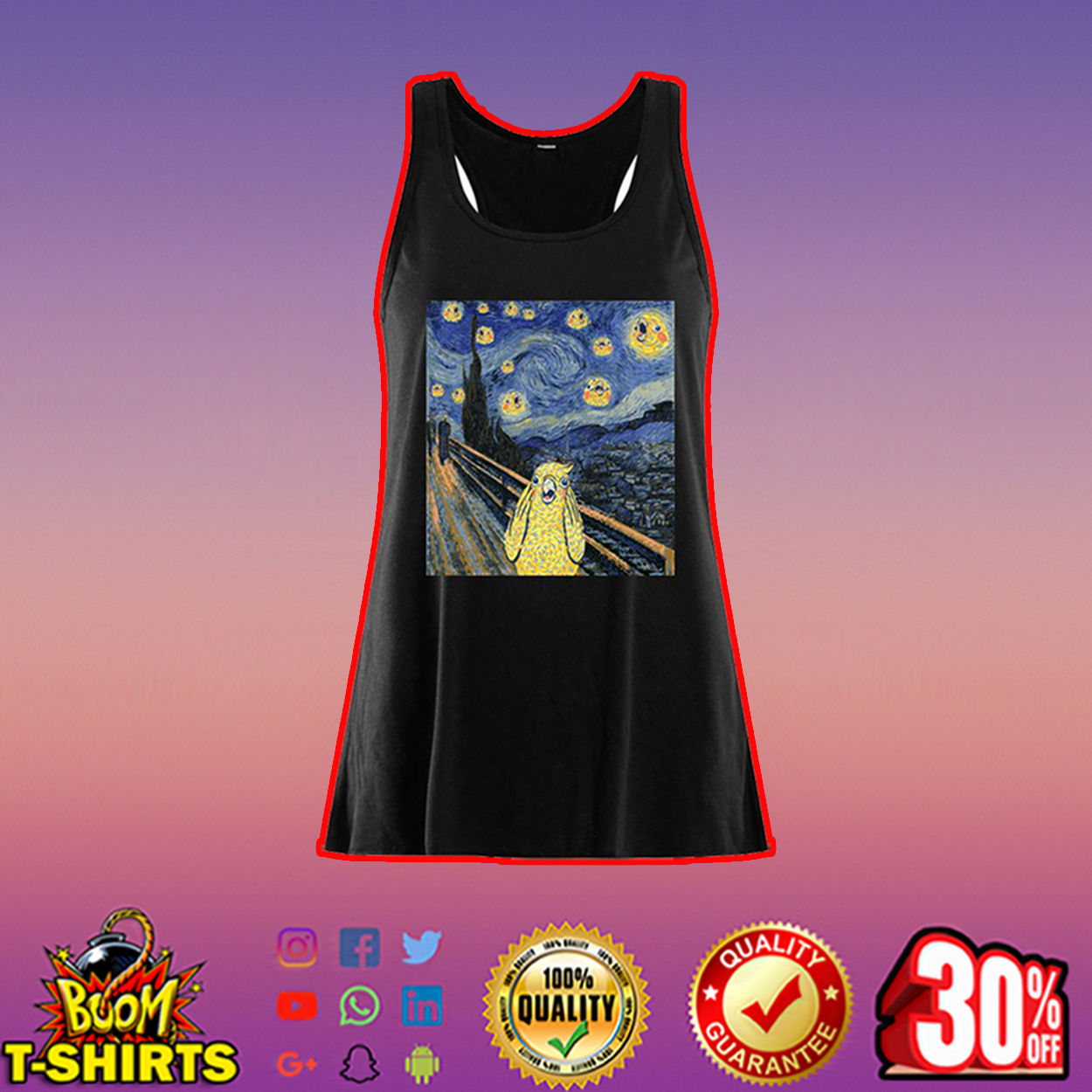 The scream bird merch flowy tank top