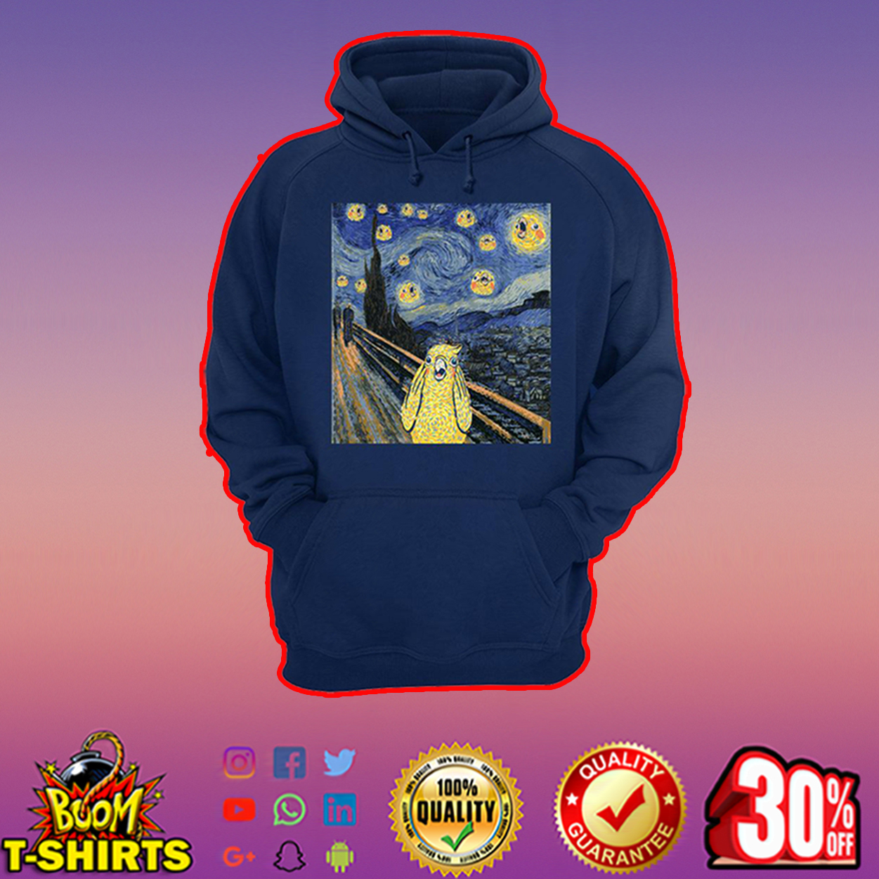 The scream bird merch hoodie