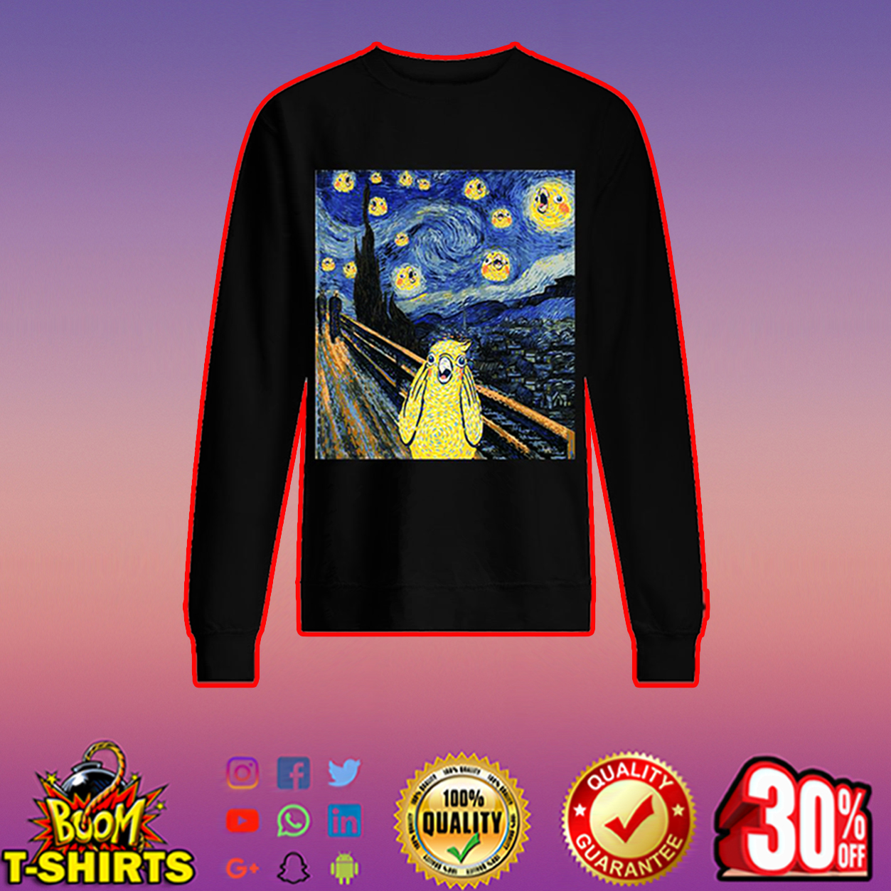 The scream bird merch sweatshirt